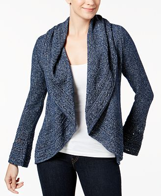 Charter Club Open-Front Circle Cardigan, Created for Macy's