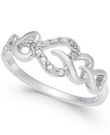 Diamond Heart Ring (1/10 ct. t.w.) in Sterling Silver