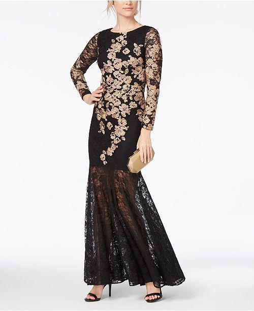 XSCAPE 2-Pc. Ruffled Mermaid Gown 4443962