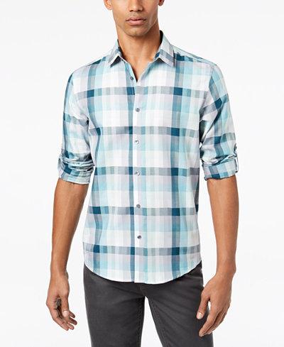 Alfani Men's Owen Plaid Shirt, Created for Macy's