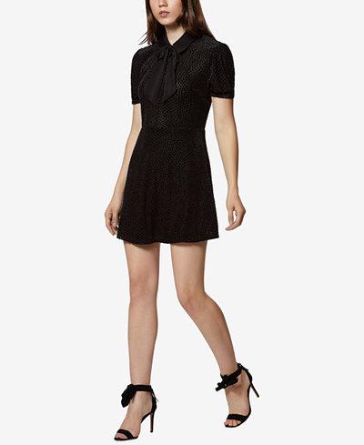 Avec Les Filles Velvet Burnout Fit & Flare Dress