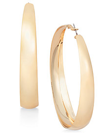 Thalia Sodi Gold-Tone Wide Hoop Earrings, Created for Macy's