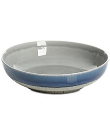 CLOSEOUT! Gibson Elite Reactive Glaze Gray Pasta Bowl, Created for Macy's