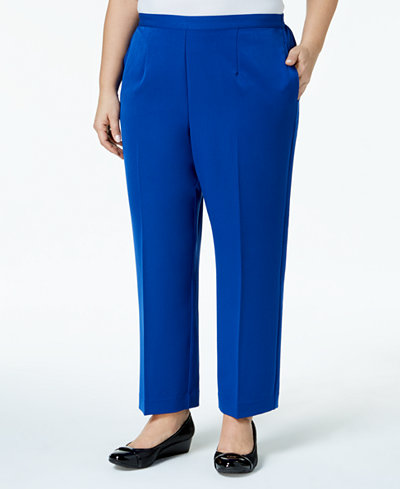 Alfred Dunner Plus Size High Roller Collection Pull-On Pants