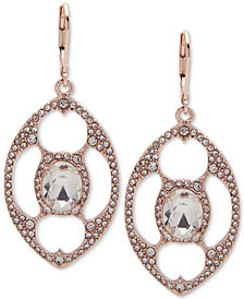 Anne Klein Crystal Openwork Orbital Drop Earrings