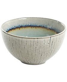Gibson Elite Reactive Glaze Gray Fruit Bowl, Created for Macy's
