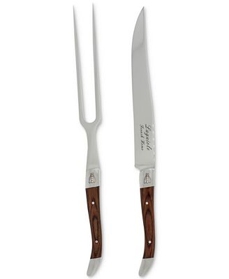 French Home 2-Pc. Laguiole Pakkawood Carving Set