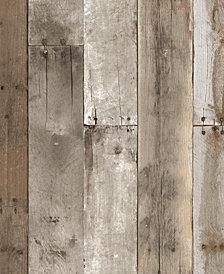 Tempaper Textured Repurposed Wood Self-Adhesive Wallpaper, 28 Sq.Ft