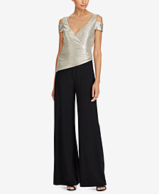Lauren Ralph Lauren Metallic Cold-Shoulder Jumpsuit