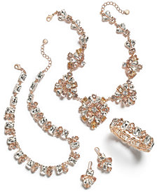 Charter Club Gold-Tone Clear & Pink Crystal Jewelry Collection, Created for Macy's