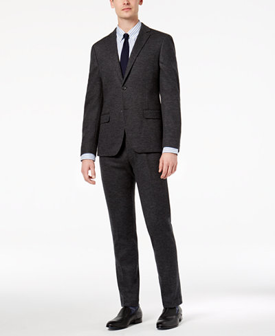 Bar III Men's Slim-Fit Gray Knit Suit Separates, Created for Macy's