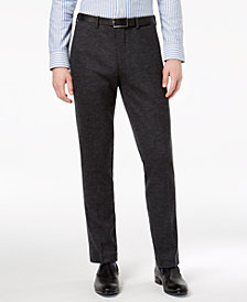 Bar III Men's Slim-Fit Gray Knit Suit Pants, Created for Macy's