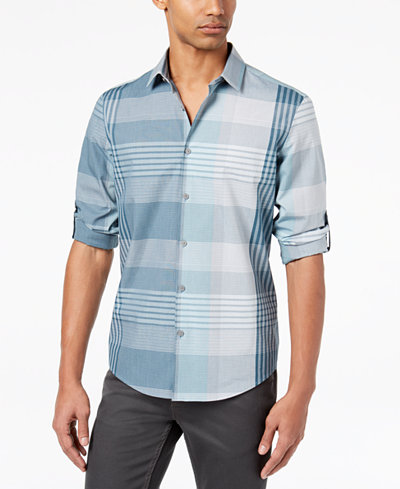 Alfani Men's Billson Plaid Shirt, Created for Macy's