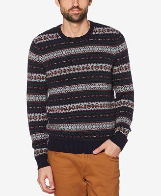 Original Penguin Men's Fair Isle Wool Sweater - Sweaters - Men ...