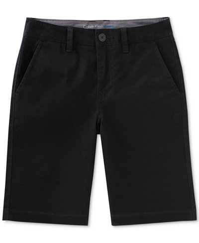 Calvin Klein Motion Stretch Flat-Front Shorts, Big Boys