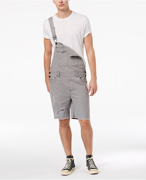 new selection reasonably priced 2019 best sell American Rag Men's Stretch Destroyed Shortalls, Created for ...