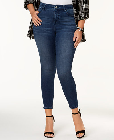 Celebrity Pink Plus Size High-Rise Ripped Skinny Ankle Jeans