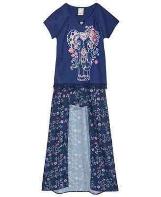 Belle Du Jour 2-Pc. T-Shirt & Maxi Shorts Set, Big Girls
