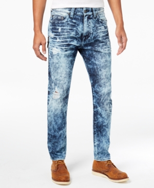 True Religion Men's Mick Slouchy Skinny-fit Stretch Destroyed Jeans In Retro Active