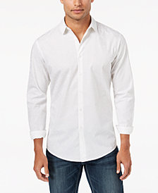 I.N.C. Men's Scribble Flocked Pattern Shirt, Created for Macy's