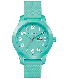 Lacoste Kids' 12.12 Turquoise Silicone Strap Watch 32mm