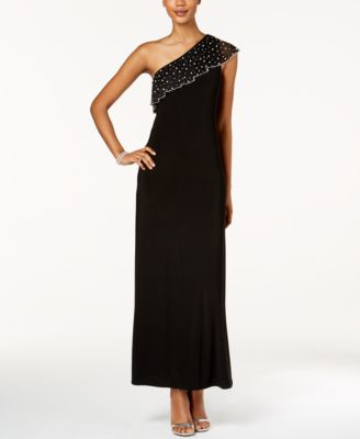 Embellished One Shoulder Dresses