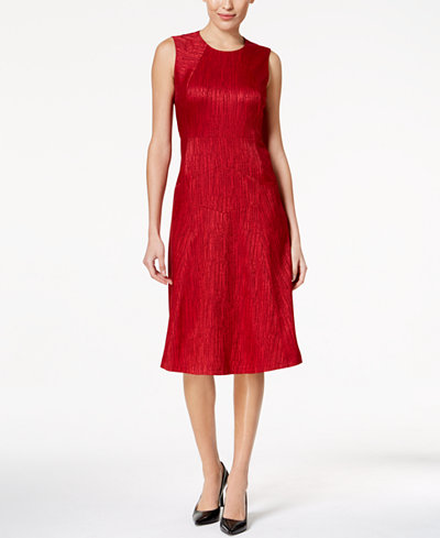Anne Klein Ottoman Midi Fit & Flare Dress