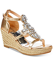 Badgley Mischka Sophia Barre Embellished Wedge Sandals, Little Girls (11-3) & Big Girls (3.5-7)