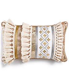 "LAST ACT! Lacourte Hazel Embroidered 12"" x 20"" Decorative Pillow, Created for Macy's"