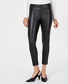 Bar III Coated Skinny Pants, Created for Macy's