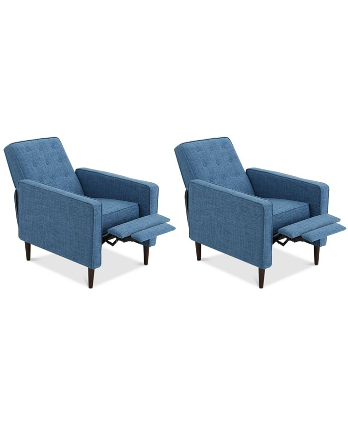 Noble House - Wadena Recliner Club Chair (Set Of 2), Quick Ship