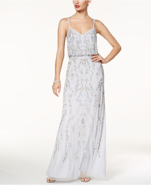 8a5b34255 Adrianna Papell Floral Beaded Blouson Gown & Reviews - Dresses ...