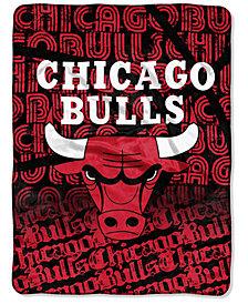 Northwest Company Chicago Bulls Micro Raschel 46 x 60 Redux Blanket