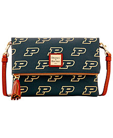 Dooney & Bourke Purdue Boilermakers Foldover Crossbody Purse