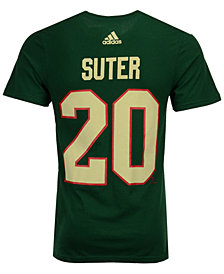 adidas Men's Ryan Suter Minnesota Wild Silver Player T-Shirt