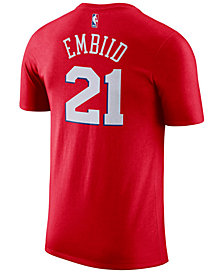 Nike Men's Joel Embiid Philadelphia 76ers Name & Number Player T-Shirt