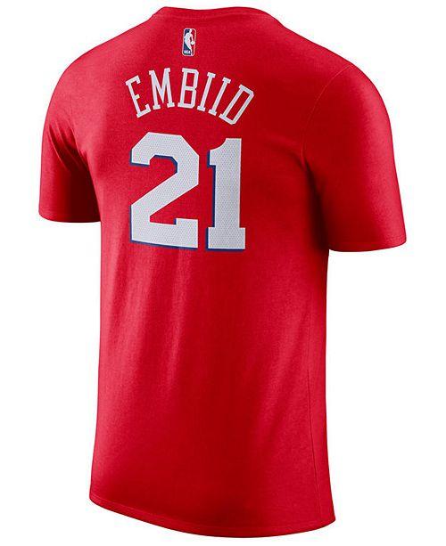 21e552479 ... T-Shirt  Nike Men s Joel Embiid Philadelphia 76ers Name   Number Player  ...