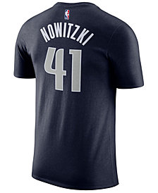 Nike Men's Dirk Nowitzki Dallas Mavericks Name & Number Player T-Shirt
