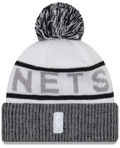 f35820eeaad ... cheap new era brooklyn nets court force pom knit hat sports fan shop by  690f6 00185