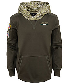 Nike New York Jets Salute To Service Therma Hoodie, Big Boys (8-20)