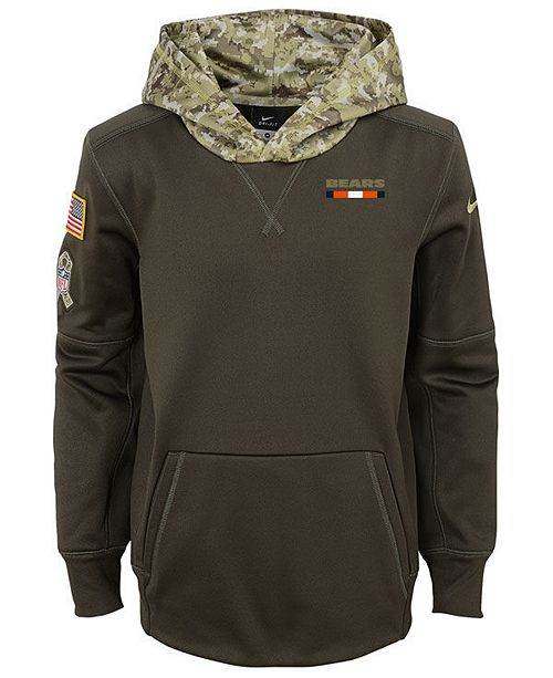 buy online f195b 41189 Nike Chicago Bears Salute To Service Therma Hoodie, Big Boys ...