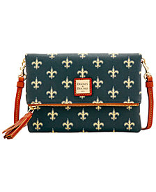 Dooney & Bourke New Orleans Saints Foldover Crossbody Purse