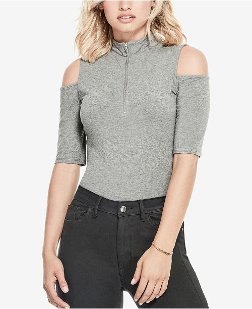 ac3bc13f39f45 GUESS Betsey Cold-Shoulder Top   Reviews - Tops - Women - Macy s