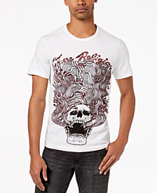 True Religion Men's Wavy Skull Embroidered Graphic-Print T-Shirt