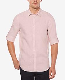 Men's Linen Blend Textured Shirt