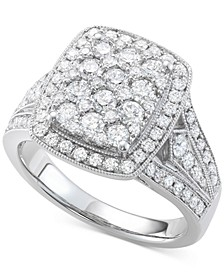 Diamond Cluster Ring (1-1/2 ct. t.w.) in 14k White Gold