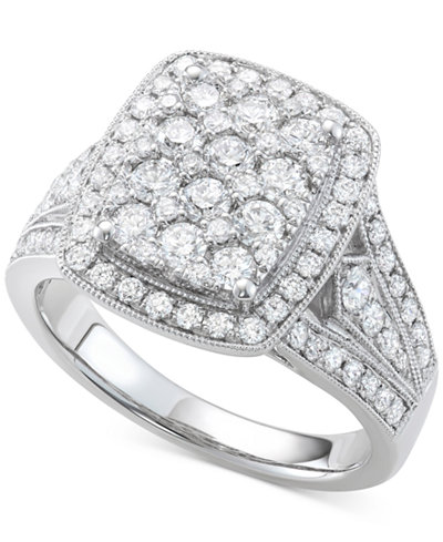 Diamond Cluster Ring (1-1/2 ct. t.w.) in 14k White Gold