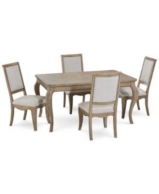 Martha Stewart Bergen Dining Furniture, 5 Pc. Set (Expandable Dining Table U0026