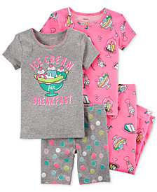 Carter's 4-Pc. Ice Cream-Print Cotton Pajama Set, Baby Girls