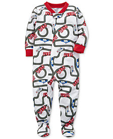 Carter's Racetrack Footed Pajamas, Baby Boys